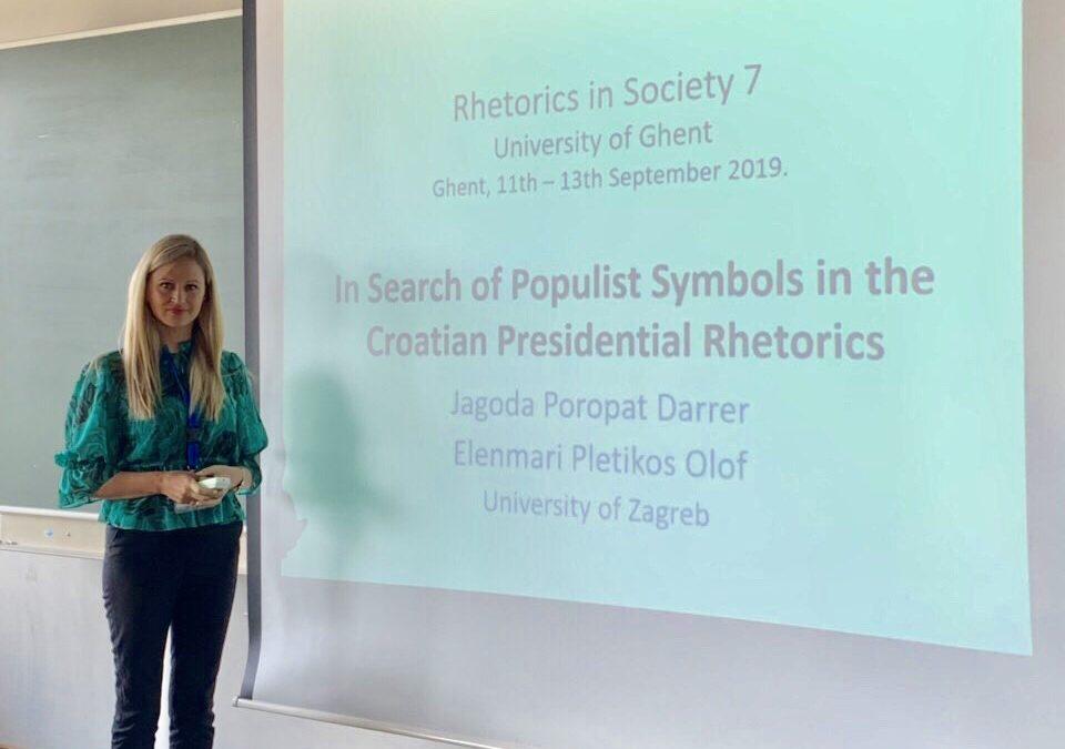 Jagoda Poropat Darrer prezentirala na konferenciji RIS7